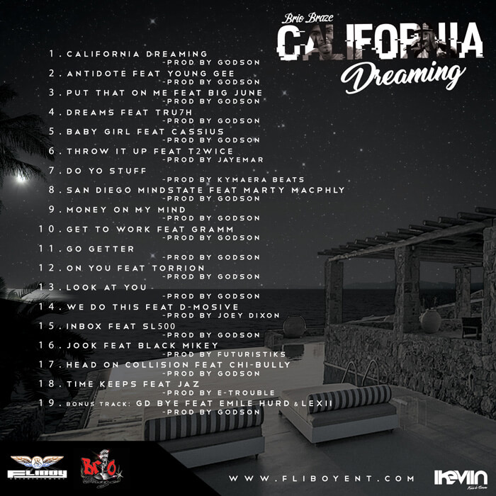 Brio Braze - California Dreaming (Artwork by iKeviin) (back)