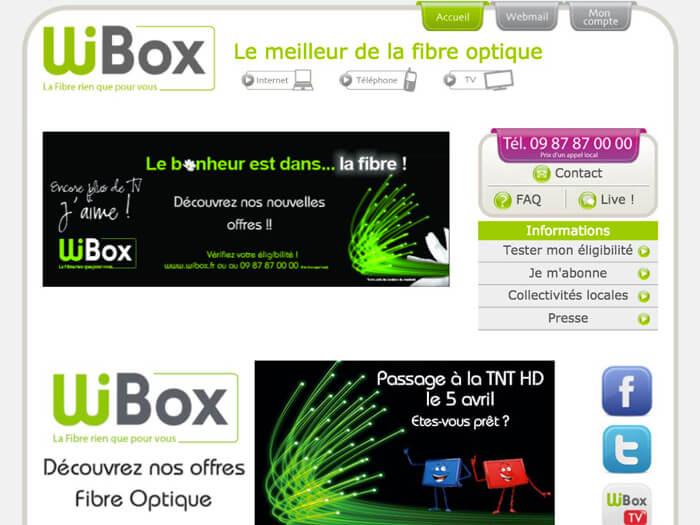 Screenshot of the website Wibox